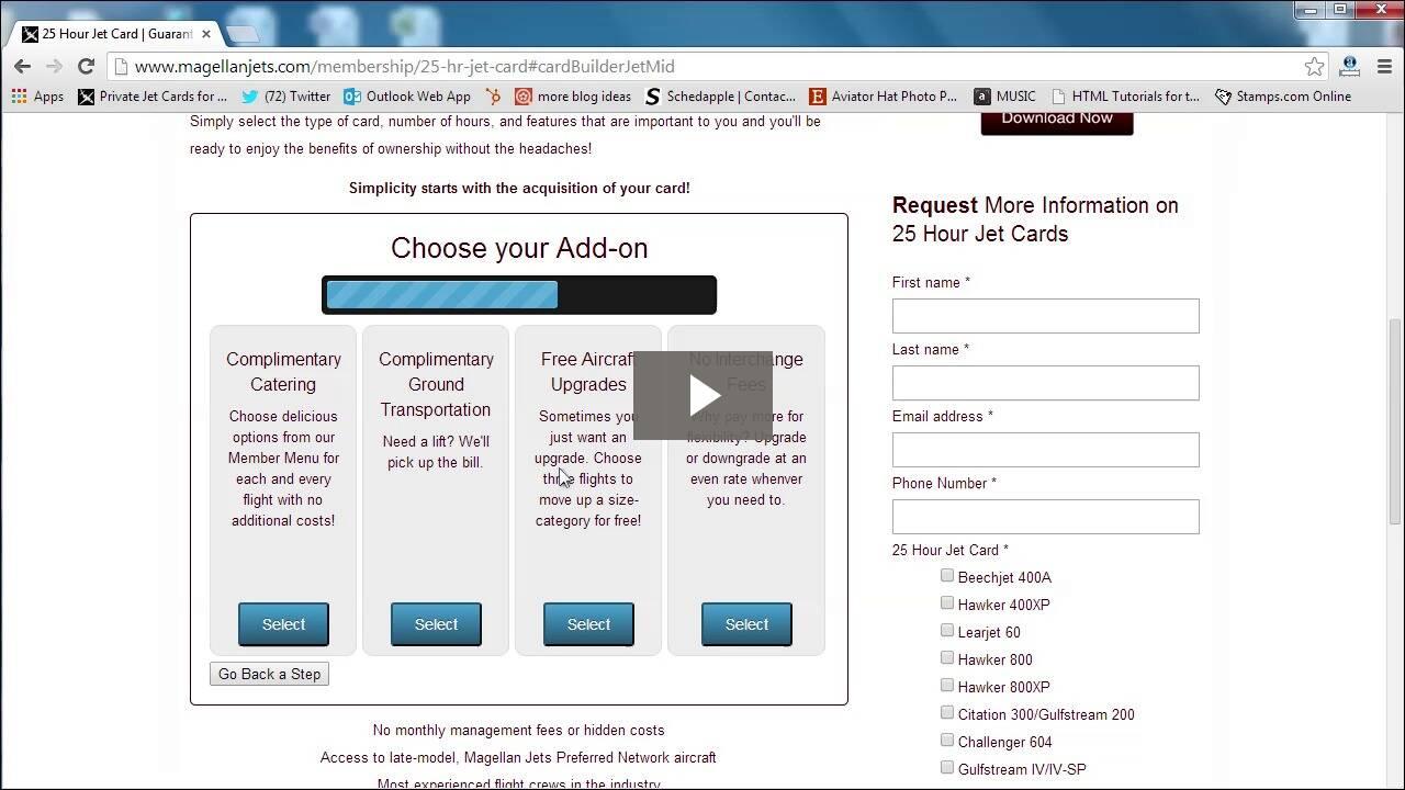 Build a Jet Card video