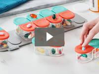 Video for Modular Push-Through Pill Organizer