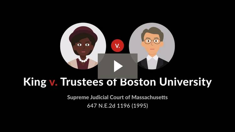 King v. Trustees of Boston University