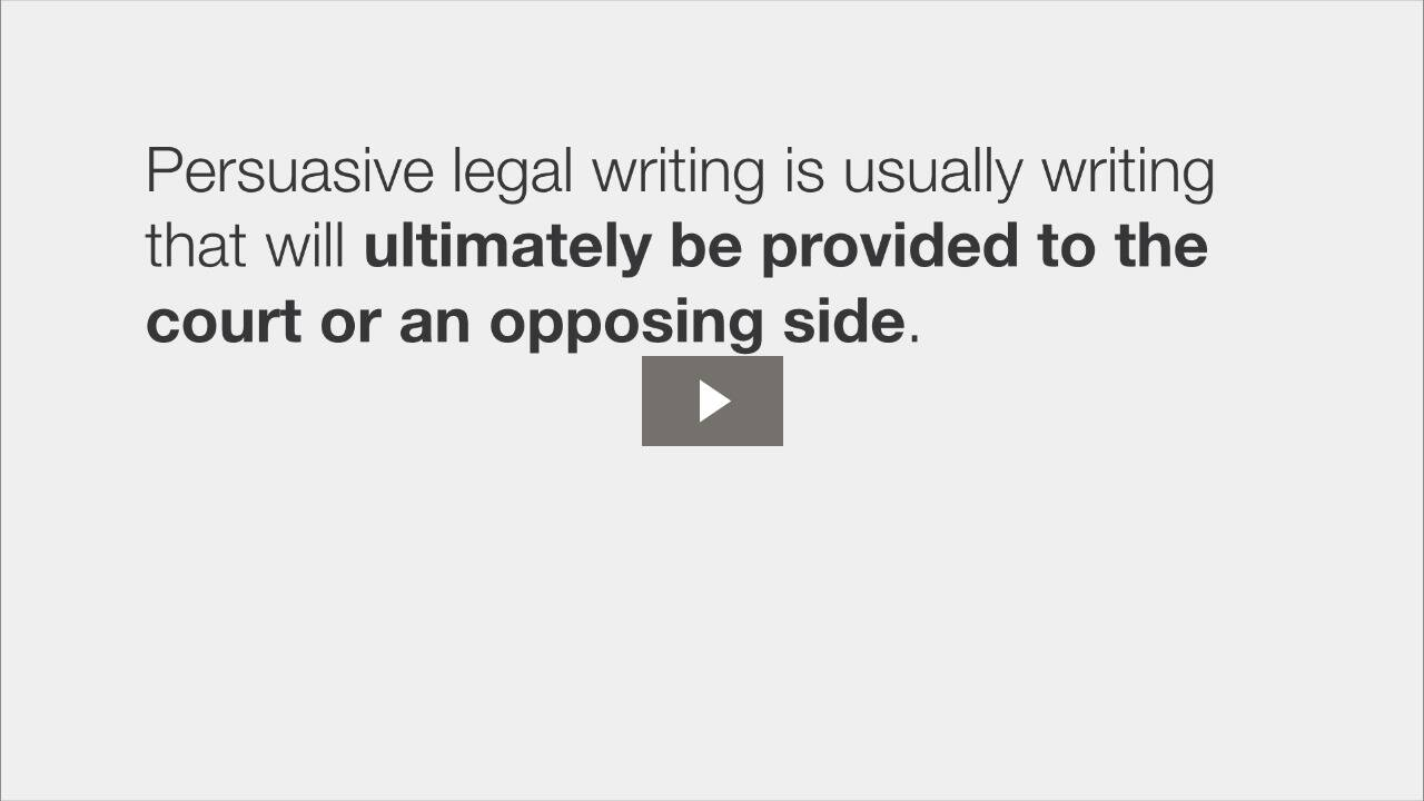 Forms of Legal Writing
