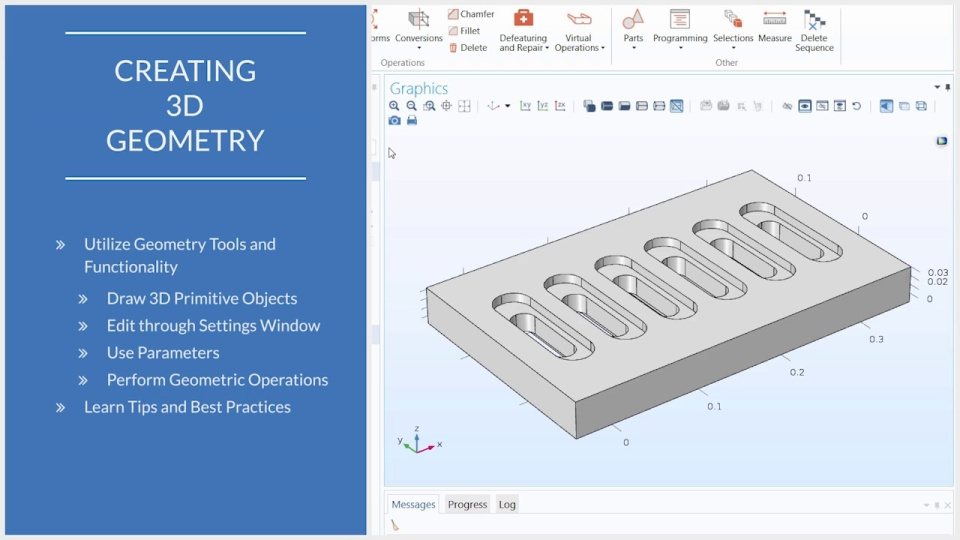 Using the 3d geometry tools in comsol multiphysics ccuart Choice Image