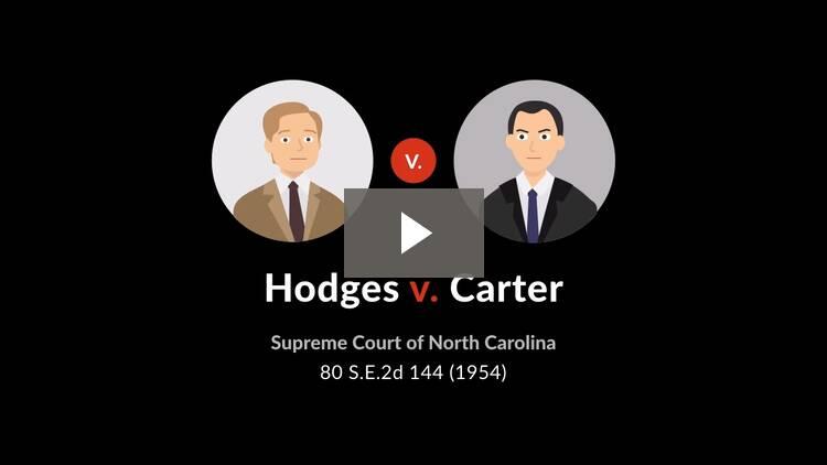 Hodges v. Carter