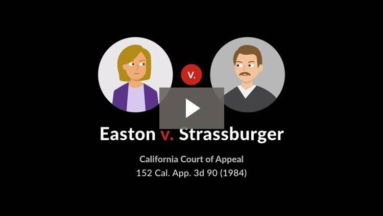 Easton v. Strassburger