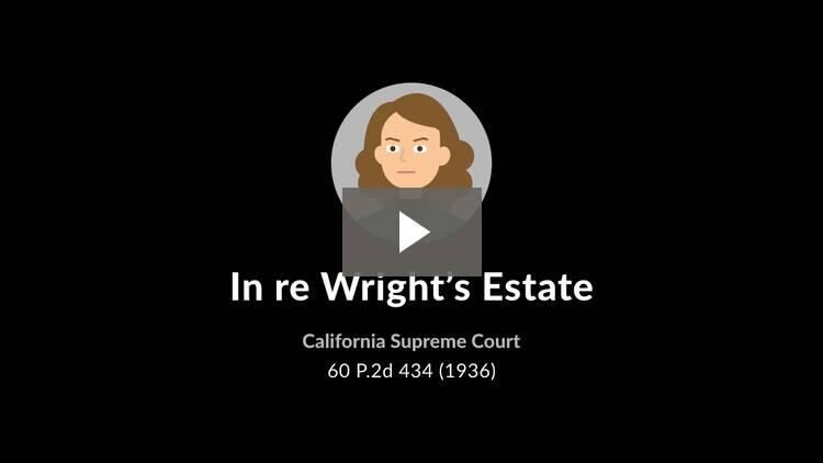 In re Wright's Estate