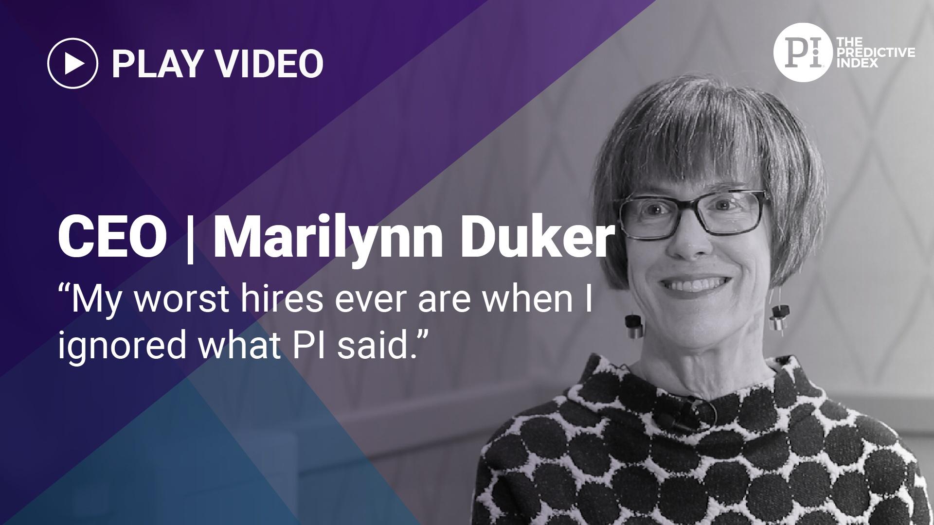 Marilynn Duker on using PI for hiring