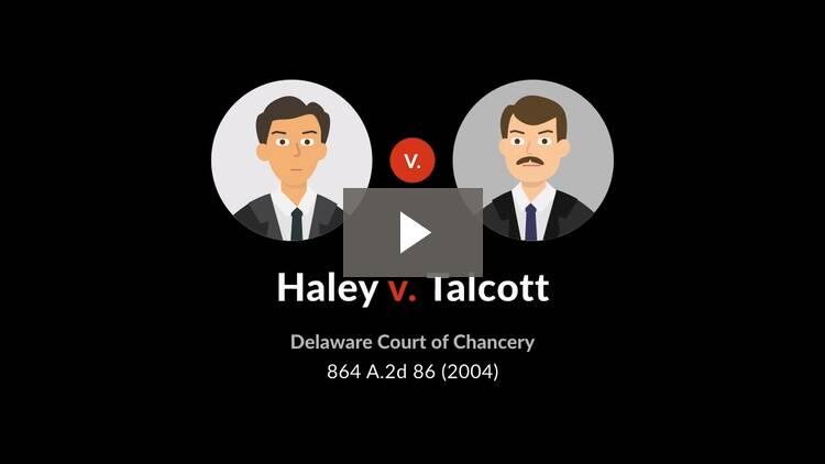 Haley v. Talcott