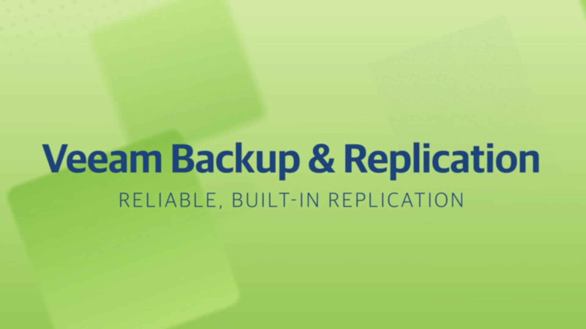 Product launch v11 - VBR - Reliable Built-in Replication