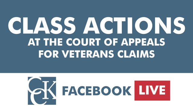 Monk v. Wilkie: Class Actions at the Court of Appeals for Veterans Claims (CAVC)