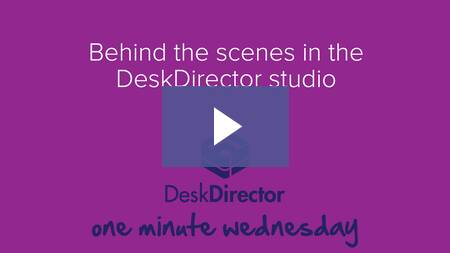 Behind the scenes in the DeskDirector studio