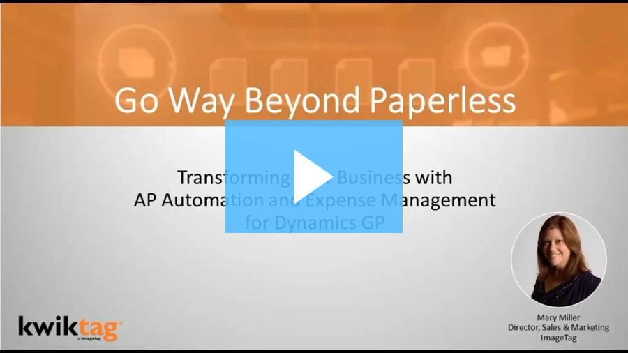 MSDynamics World: Go way beyond paperless