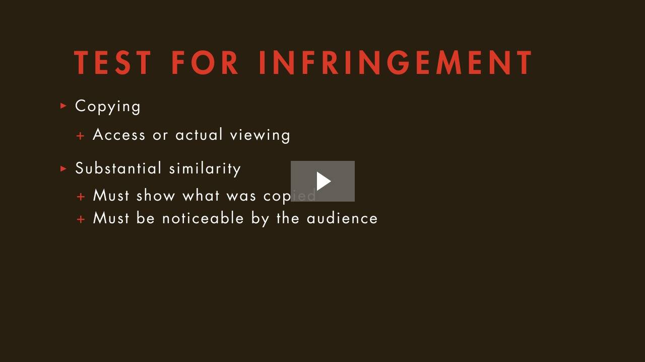 Copyright Infringement and Defenses