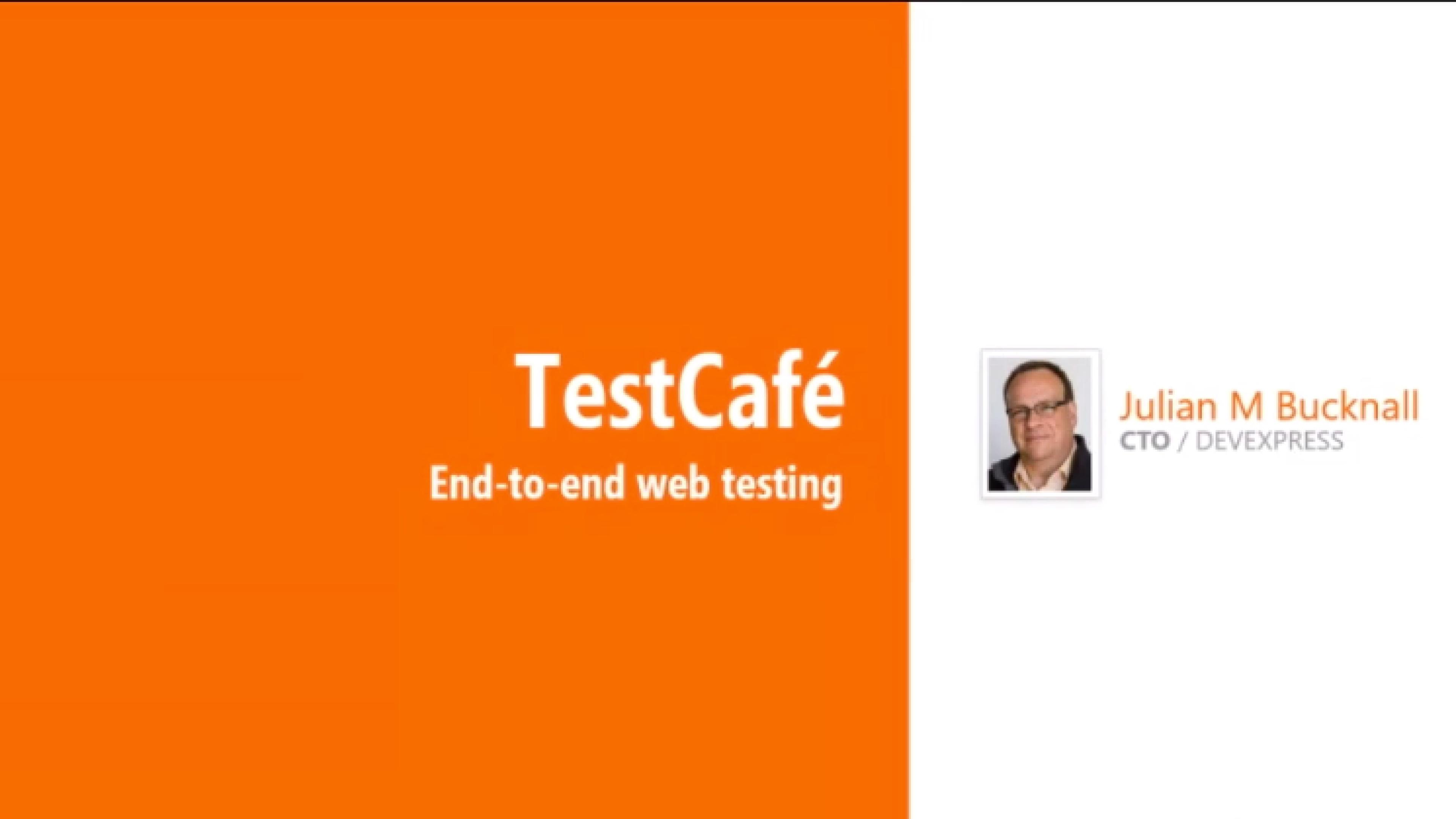 End-to-end web testing - TestCafé - Julian M Bucknall