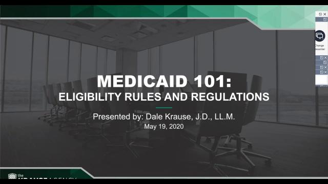Medicaid 101: Basic Eligibility Rules