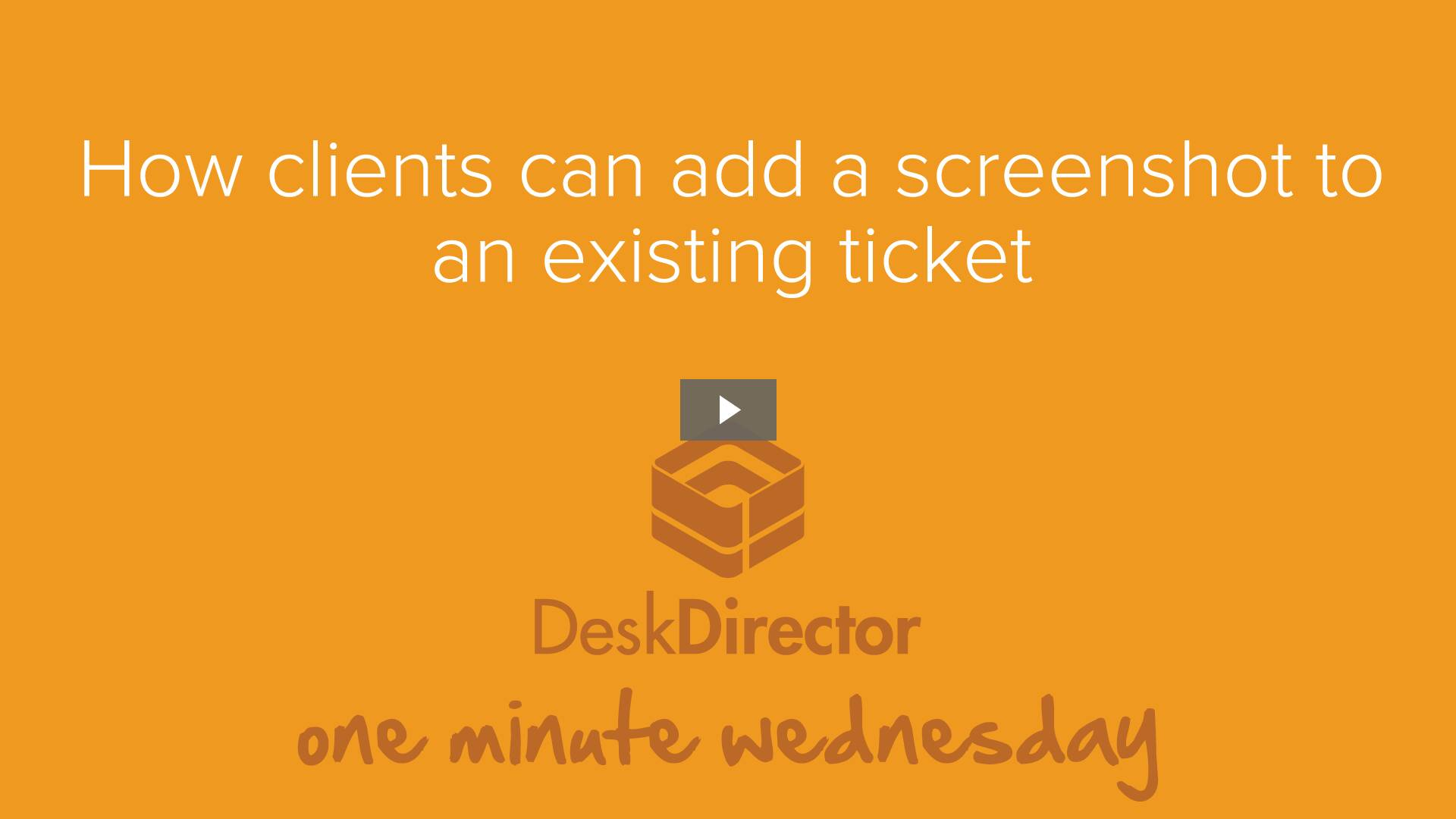 Adding a screenshot to an existing ticket