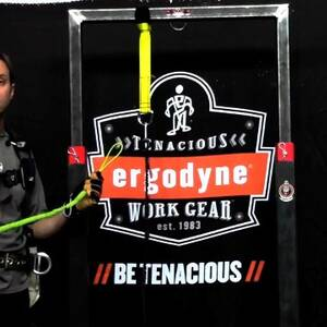 Ergodyne Product Video - Squids<sup>®</sup> 3100 Single Carabiner Tool Lanyard - 10lbs