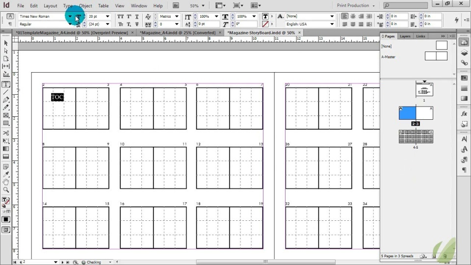 Introduction To Magazine Design - Storyboard Planning