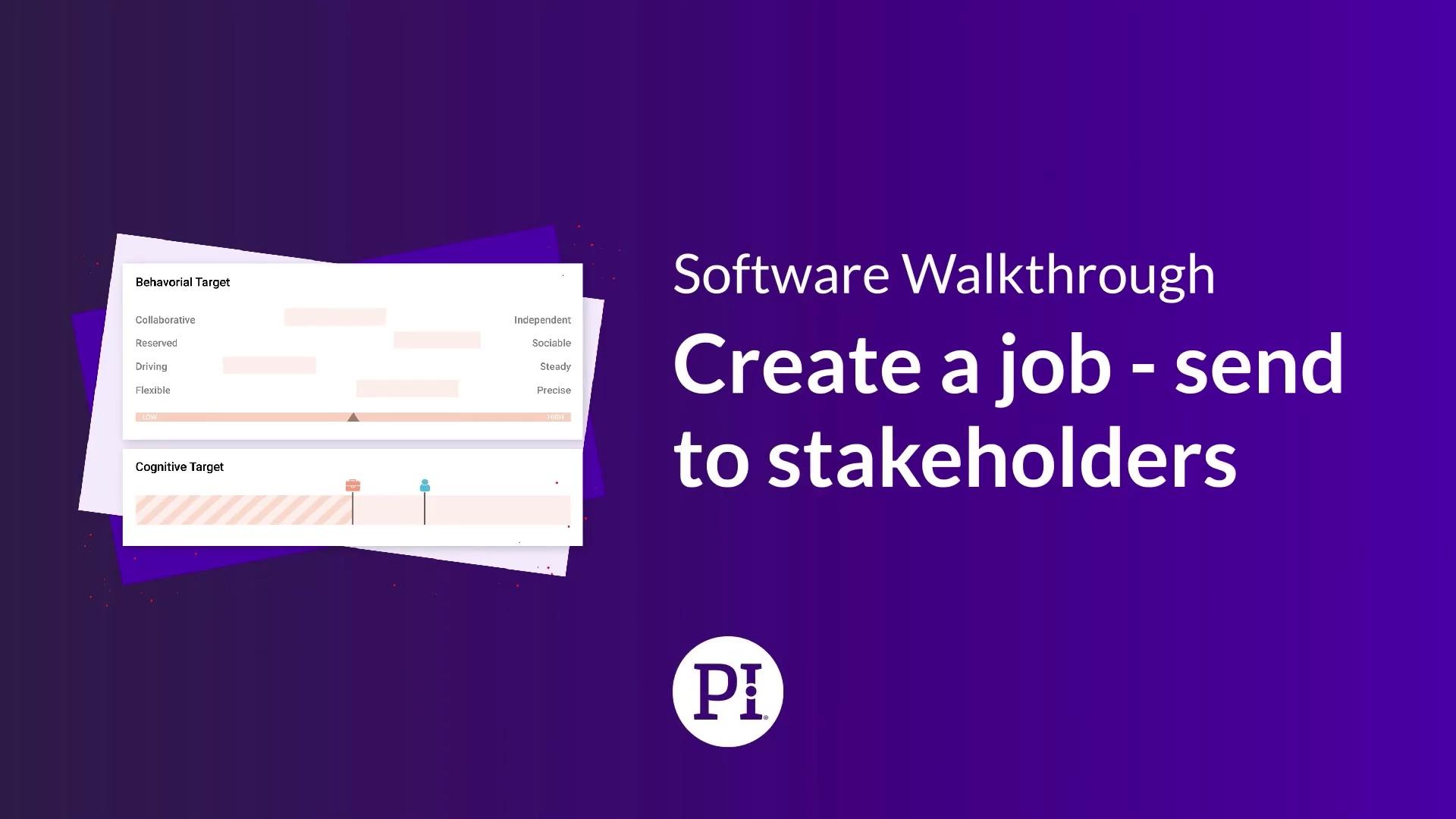 Create Job - Send to Stakeholders