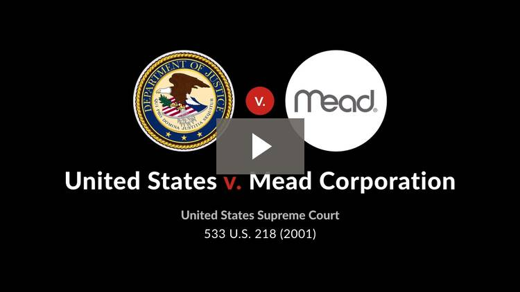 United States v. Mead Corporation