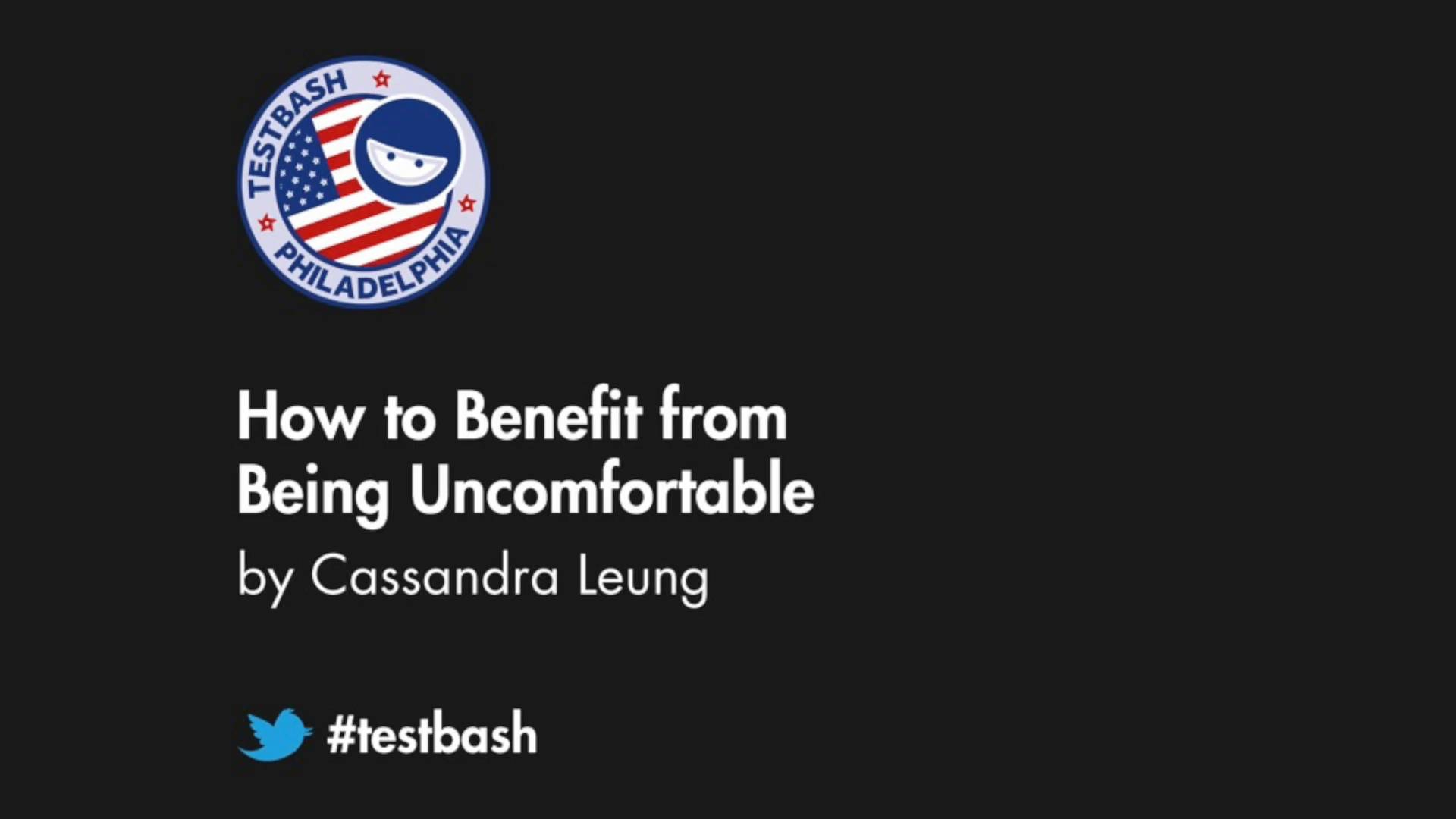 How to Benefit from Being Uncomfortable -  Cassandra H. Leung