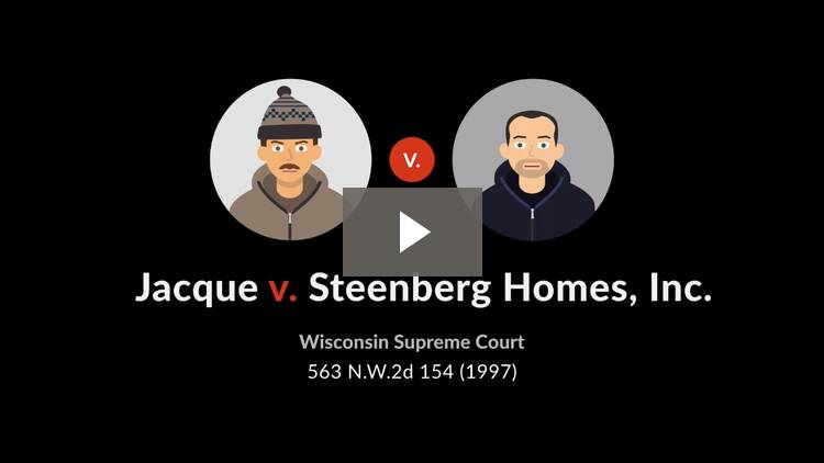 Jacque v. Steenberg Homes, Inc.