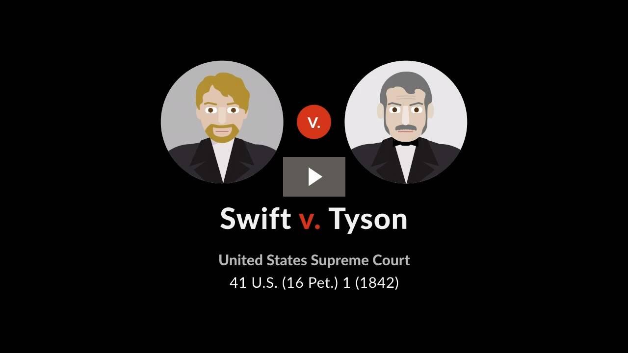 Swift v. Tyson