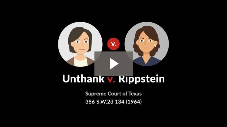 Unthank v. Rippstein