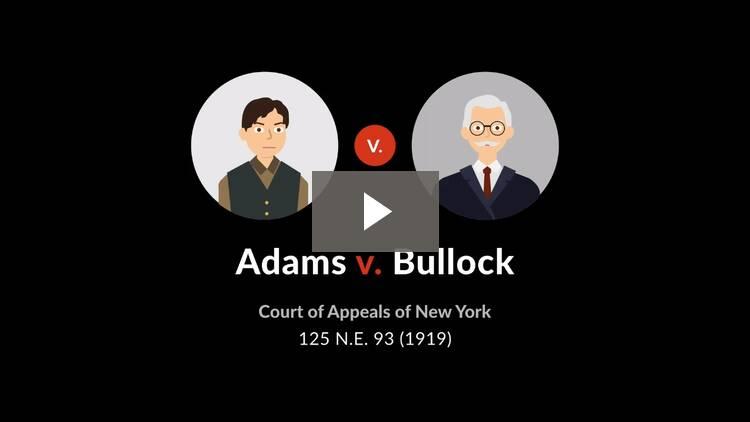 Adams v. Bullock
