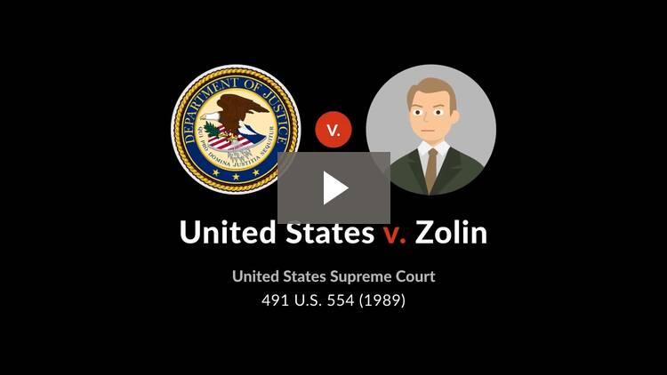 United States v. Zolin