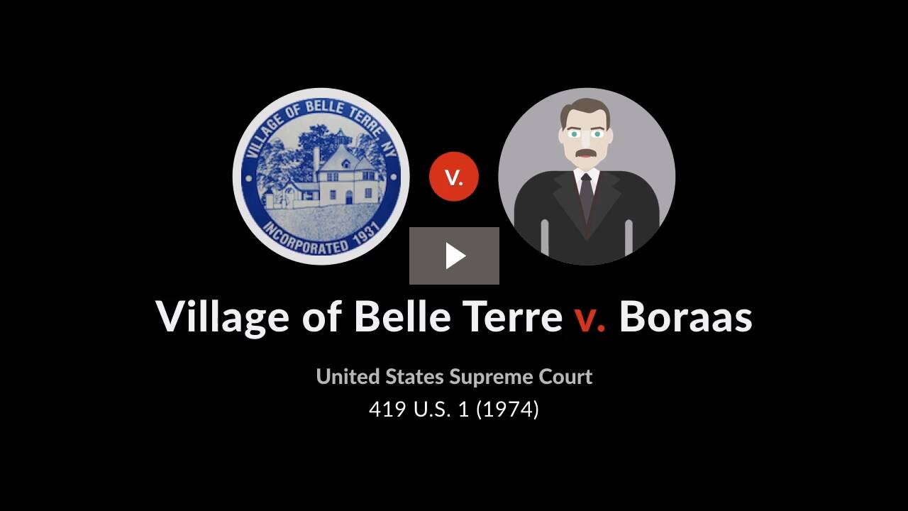 Village of Belle Terre v. Boraas