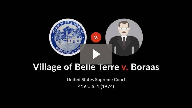 Village of Belle Terre v. Boraas