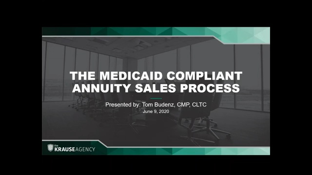 The Medicaid Compliant Annuity Sales Process