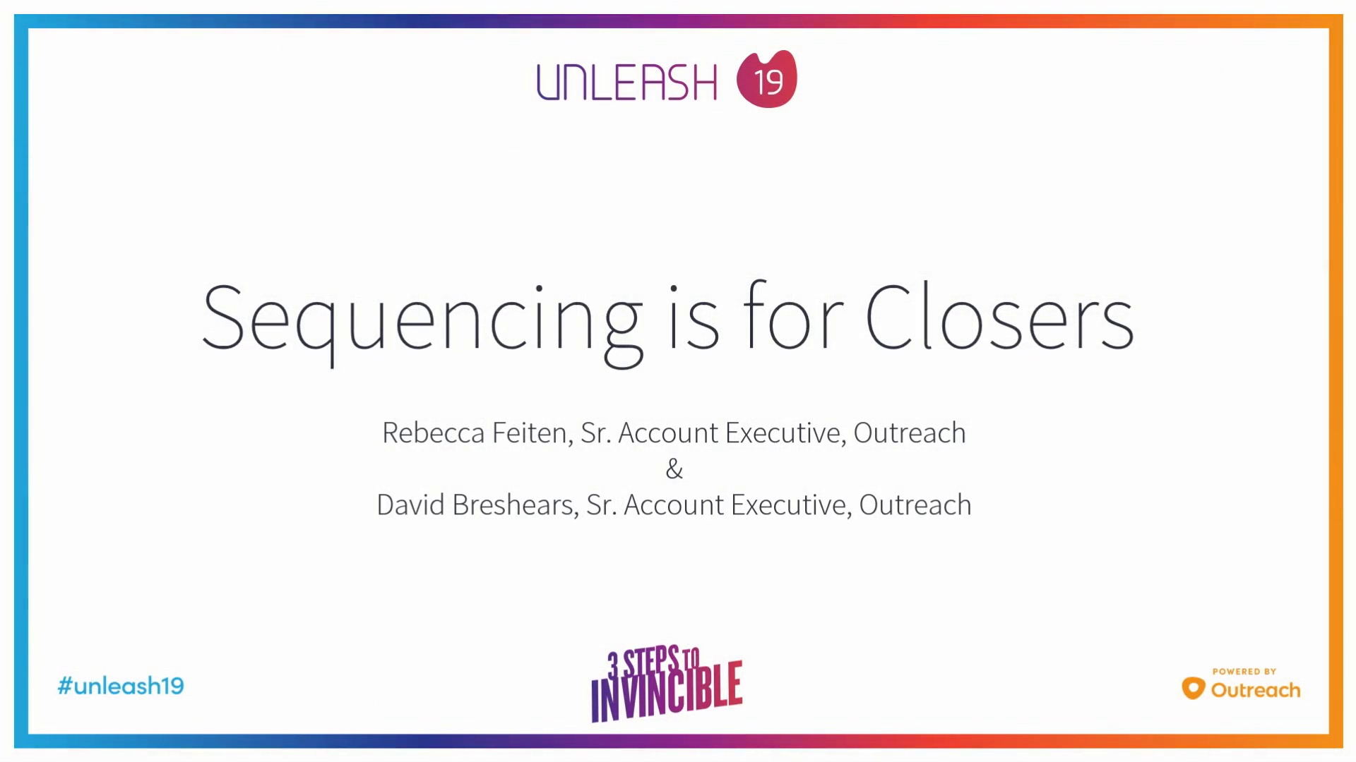 Sequencing is for Closers - Rebecca Feitan, David Breshears