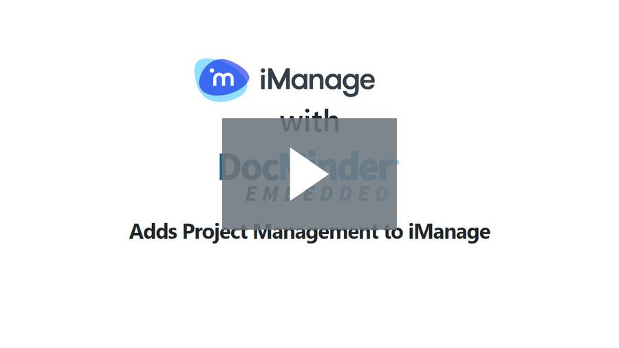 iManage with DocMinder Embedded - FileSite