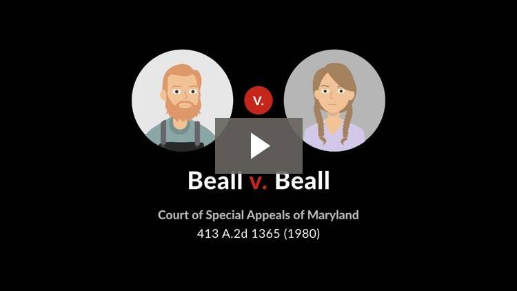 Beall v. Beall