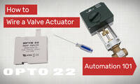 Automation 101: Wire a Valve Actuator