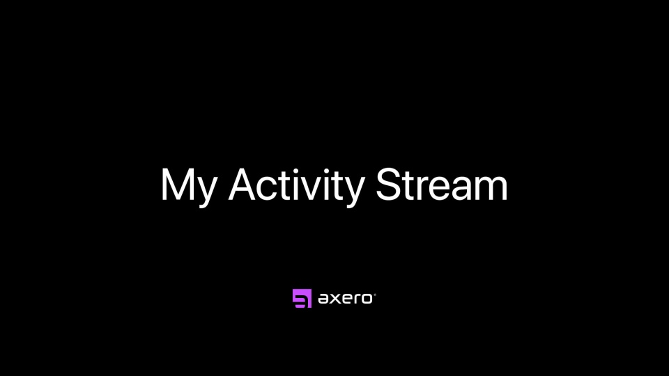 My Activity Stream