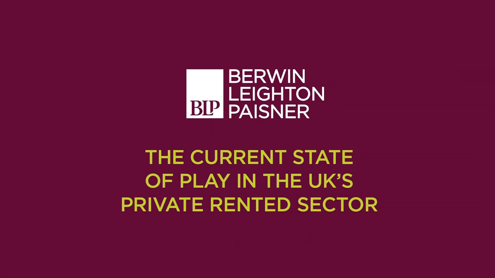 Still image from 'The current state of play in the UKs private rented sector' video