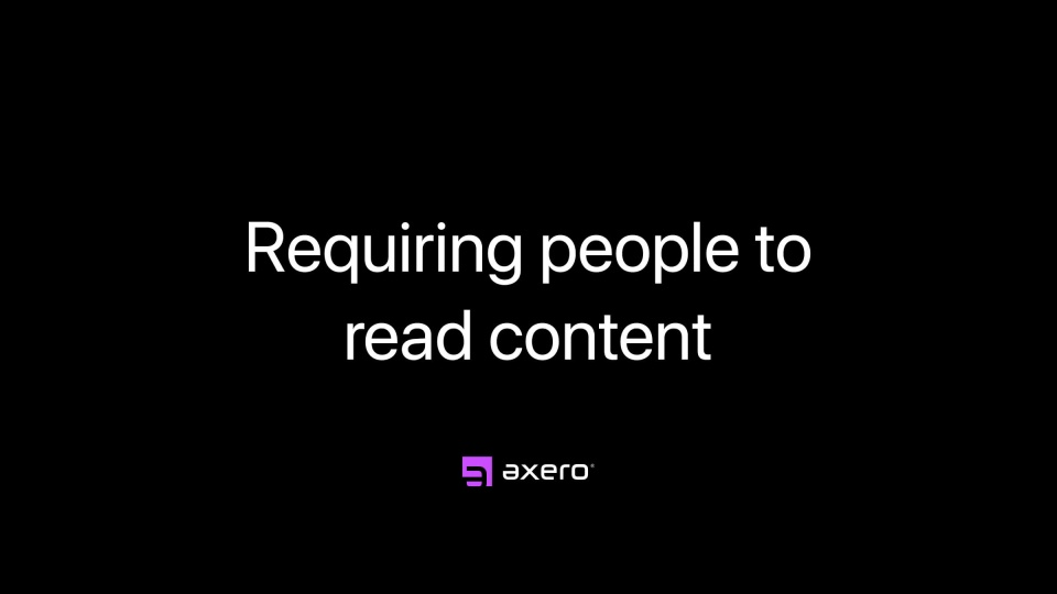 Requiring people to read content