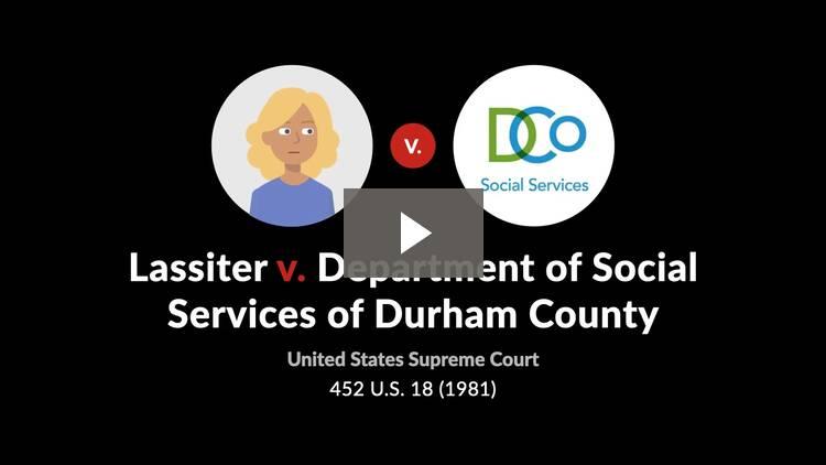 Lassiter v. Department of Social Services