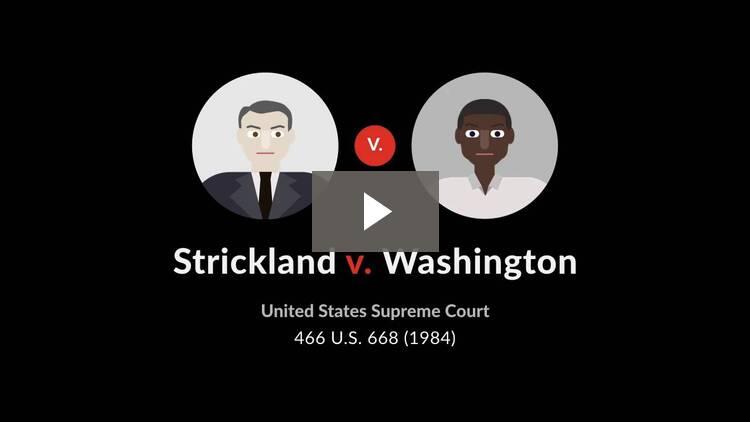 Strickland v. Washington