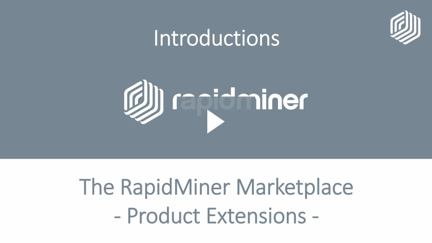 Super-charge RapidMiner Studio with Extensions