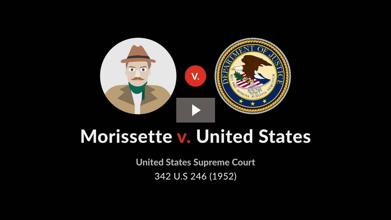 Morissette v. United States