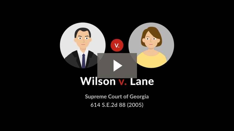 Wilson v. Lane