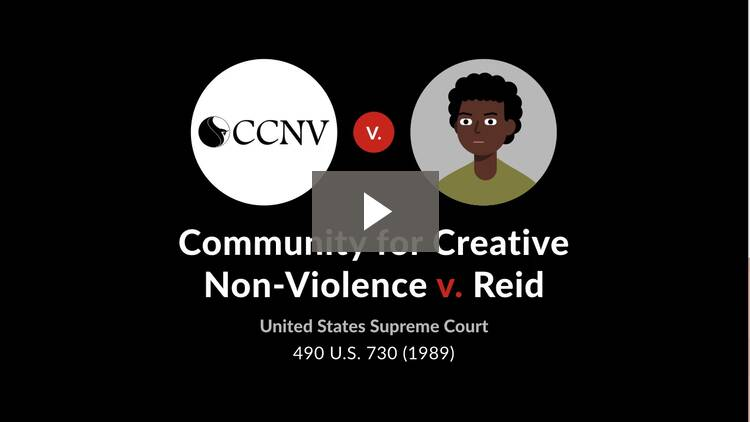 Community for Creative Non-violence v. Reid