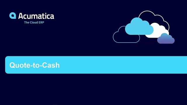 Quote-to-Cash with Acumatica