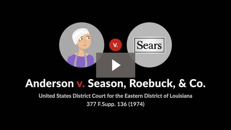 Koepnick v. Sears Roebuck & Co.