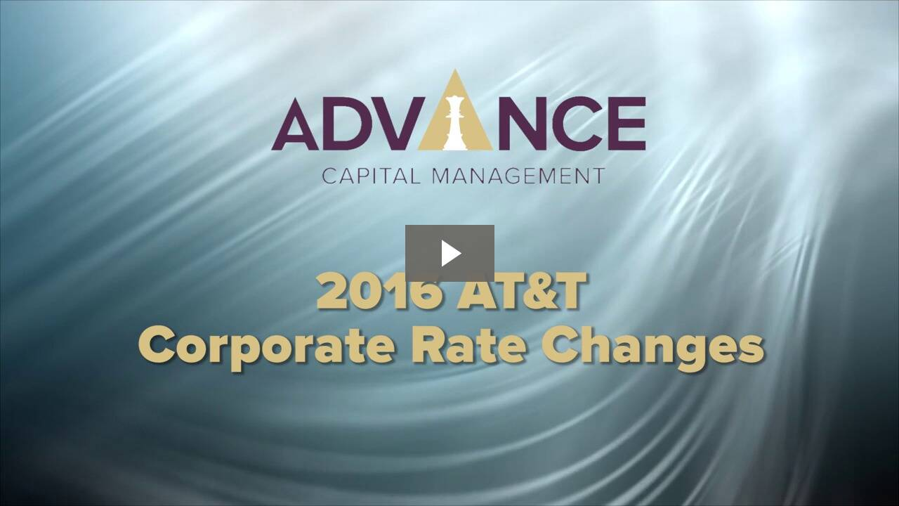 AT&T Corporate Rate Changes for 2016