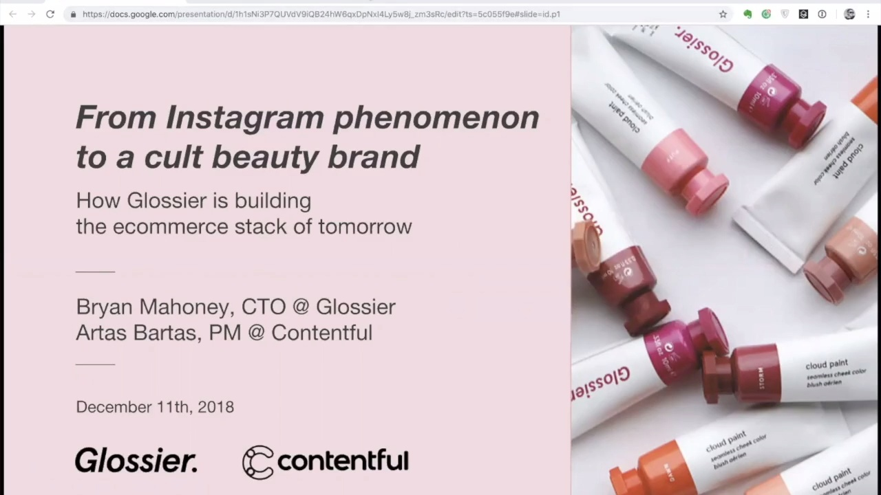 [2018-12-11] How Glossier is building the ecommerce stack of tomorrow