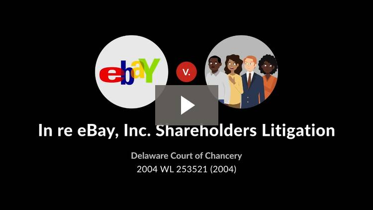 In re eBay, Inc. Shareholders Litigation