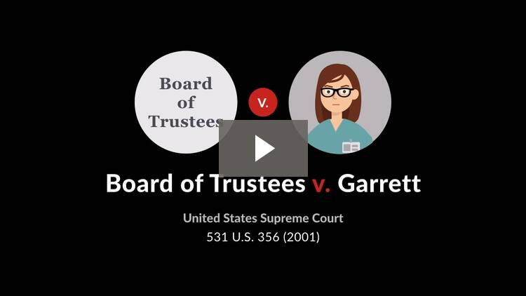 Board of Trustees v. Garrett